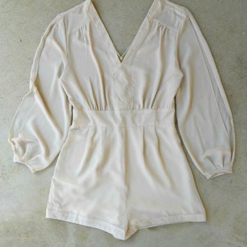 By the Bay Romper in Oyster