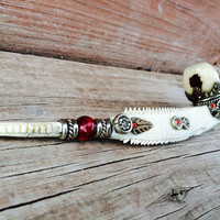 Mother Earth Bone Peace Pipe