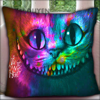 Alice in Wonderland Were All Mad Here Nebula - Pillow Cover Pillow Case and Decorated Pillow.