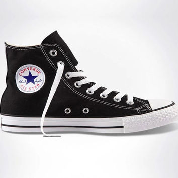 "Black ""Converse"" Fashion Canvas Flats Sneakers Sport Shoes"