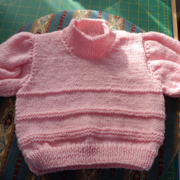 Hand Knitted Baby Sweater - Baby Cardigan - Handmade Baby Knit - New Born Baby - Knitted Baby Jacket -
