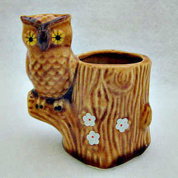 Owl Vintage Toothpick Holder  Never Used in by vintagejunque