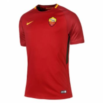 17-18 Roma Home Red Soccer Jersey Shirt (Player Version)