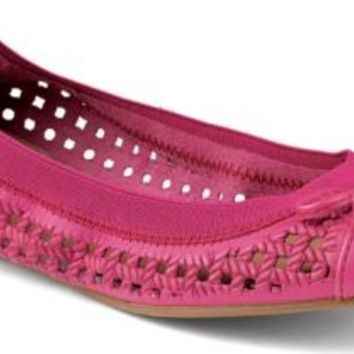Sperry Top-Sider Elise Perforated Ballet Flat Pink, Size 12M  Women's Shoes