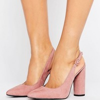 New Look Wide Fit Sling Back Court Heel at asos.com