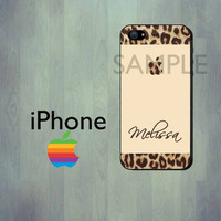 iPhone Case - Leopard Print - iPhone 4 Case or iPhone 5 Case - Personalized iPhone Case