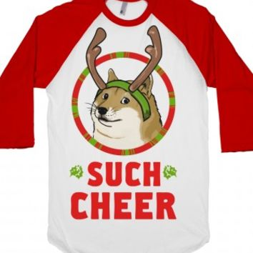 Christmas Doge-Unisex White/Red T-Shirt