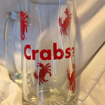 26oz Beer Mug Maryland Humor Crabs?