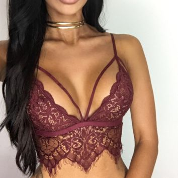 Hot sale fashion sexy straps lace belly hollow underwear