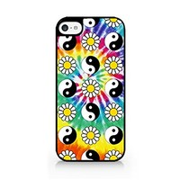 Yin Yang & Daisy Pattern - Tie Dye - YinYang - Daisy - Minimalist Design - Hipster - Swag - iPhone 5C Black Case (C) Andre Gift Shop