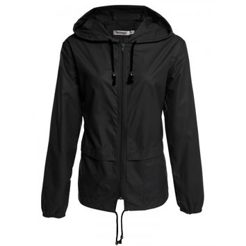 Women's Lightweight Waterproof Outdoor Hoodie Raincoat Cycling Running Sport Jacket