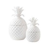 Pineapple Season Jars - Set of 2