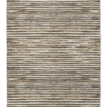 WABI SABI STRIPE BROWN Area Rug By Becky Bailey