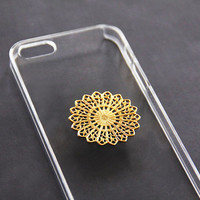 Mandala Phone Case, Psychedelic Phone Case, iPhone 5 Floral, iPhone 5s Floral, iPhone 4 4s Flower, iPhone 5c Gold, Galaxy S3 S4 Mandala