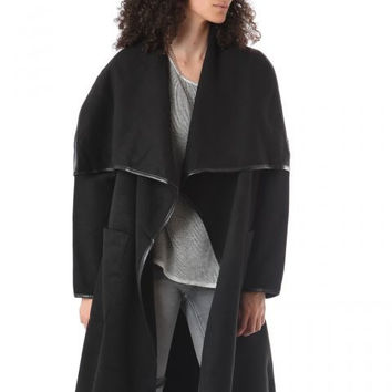 Dana Black Duster Coat