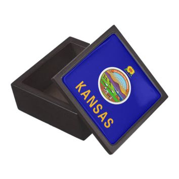 Kansas State Flag Premium Gift Box