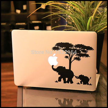 Elephant Father and Son Vinyl Laptop Decal for Apple Macbook Sticker Pro Air Retina 11 12 13 15 inch Mac HP Notebook Cover Skin