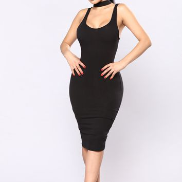 Stacy's Mom Choker Dress - Black