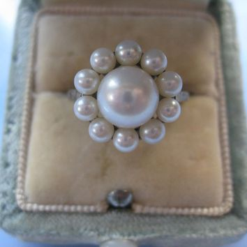 Sterling Mikimoto Cultured Pearl Ring
