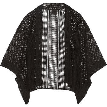 Anna Sui - Embroidered tulle and broderie anglaise kimono jacket