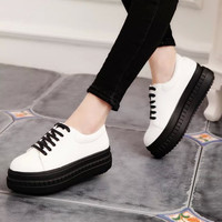 Hot Deal Hot Sale Comfort On Sale Casual Korean Summer Stylish Round-toe Shoes Thick Crust Flat Sneakers [8865956556]