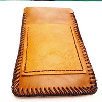Whisky brown Leather i phone 6 case sleeve