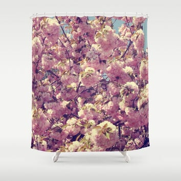 Cherry Blossoms Shower Curtain by CAPow!