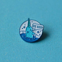 Bye Buddy Narwhal Enamel Pin, Christmas Pin, Elf Movie Pin, Narwhal Pin, Christmas Gift, Lapel Pin