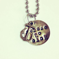Refuse to Sink Anchor Necklace- Mixed Metal