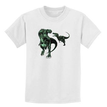 Jurassic Dinosaur Design 1 Childrens T-Shirt by TooLoud