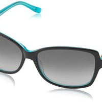 Kate Spade Women's Ailey Sunglasses,Black Turquoise Frame/Grey Gradient Lens,One size - Sales Cache