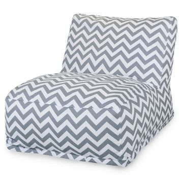 Gray Chevron Bean Bag Chair Lounger