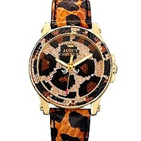 Pedigree Brown Pave Leopard Watch