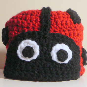 Ladybug Hat PDF Crochet Pattern - Newborn to Adult INSTANT DOWNLOAD
