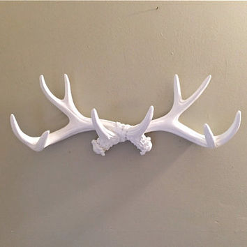 ONE DAY SALE faux antler jewelry holder antler jewelry organizer antler jewelry display scarf organizer coat rack antler wall decor