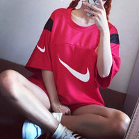 Nike: Printed loosely thin baseball net T-shirt
