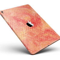 """Tiny Orange Watercolor Hearts Full Body Skin for the iPad Pro (12.9"""" or 9.7"""" available)"""