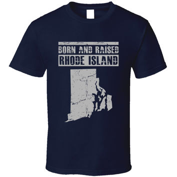 Youth Born & Raised Vintage Rhode Island T-Shirt