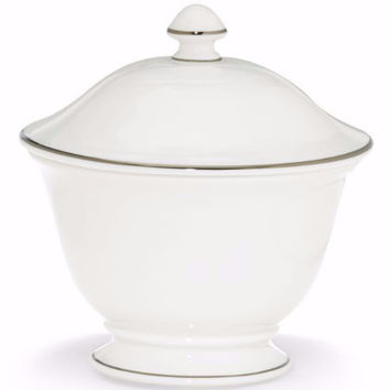 Continental Dining Platinum Sugar Bowl by Lenox