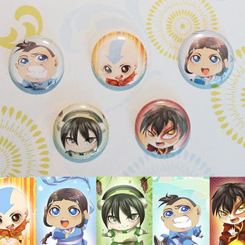 Avatar the Last Airbender Button Set by Greyeille on Etsy