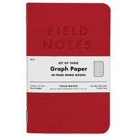 Field Notes Red Blooded - 3 pack