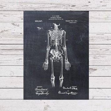 Anatomical Skeleton Patent Print From 1911 - Patent Art Print - Patent Poster - Doctor Art - Surgeon Art - Nurse - Medical Student - Surgery