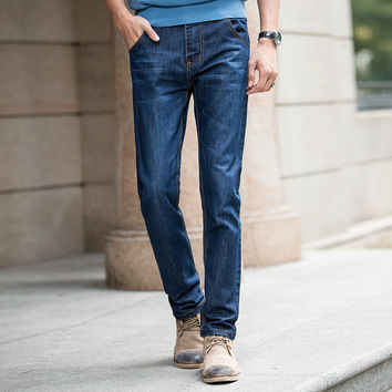 Summer Men Slim Denim Pants Men's Fashion Korean Jeans [6528760003]