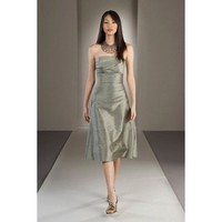 Pretty A-line empire waist taffeta dress for bridesmaid