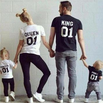 Family Matching Outfits Short-sleeved Shirts