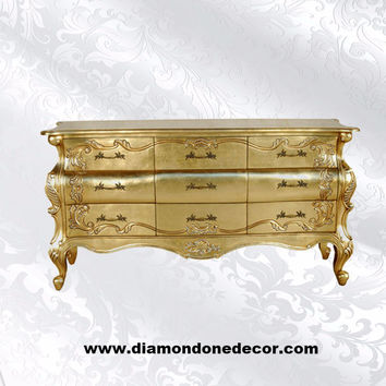 """Romana"" Baroque Fabulous French Reproduction Louis XV Rococo Commode"