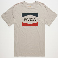 Rvca Nation Mens T-Shirt Grey  In Sizes