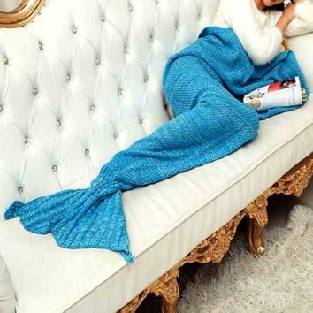 Aqua Mermaid Blanket
