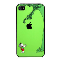 the giving tree with apple logo-Hard Case for Apple iPhone 4 Case, iPhone 4s Case, iPhone 4 Hard Case, iPhone Case