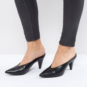 Boohoo Pointed Heeled Mule at asos.com